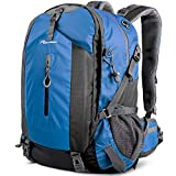 OutdoorMaster Hiking Backpack 50L - w/Waterproof Cover - Blue
