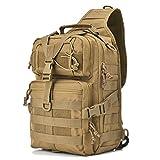 Gowara Gear Tactical Sling Bag Pack Military Backpack Range Bags Tan