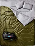 Sleepingo Double Sleeping Bag for Backpacking, Camping, Or Hiking. Queen Size...