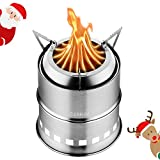 CANWAY Camping Stove, Wood Stove/Backpacking Stove,Portable Stainless Steel Wood...