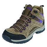 Northside Women's Pioneer-W Hiking Boot, Medium Brown/Dark Purple, 9 M US