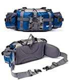 Outdoor Fanny Pack Hiking Camping Biking Waterproof Waist Pack 2 Water Bottle...