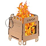 Lixada Camping Stove, Portable Stainless Steel Lightweight Folding Wood Stove...