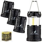 MalloMe LED Camping Lantern Flashlights 4 Pack - Super Bright - 350 Lumen...