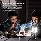 Etekcity 4 Pack LED Camping Lantern Portable Flashlight with 12 AA Batteries -...