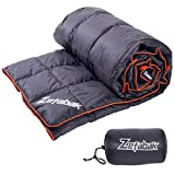 Down Blanket for Camping Indoor Outdoor by ZEFABAK Puffy 600 Fill Power Duck...