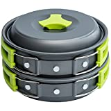 1 Liter Camping Cookware Mess Kit Backpacking Gear & Hiking Outdoors Bug Out Bag...