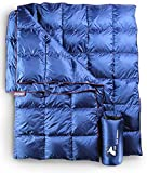 Horizon Hound Down Camping Blanket - Outdoor Lightweight Packable Down Blanket...