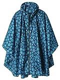 Hooded Waterproof Rain Poncho with Zipper Outdoor Windbreak Colorful Ripple Rain...