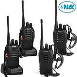 Greaval Walkie Talkies 4 Pack Long Range 2 Way Radio Handheld 16-CH Two Way...