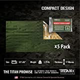 Titan Two-Sided Mylar Emergency Survival Space Blankets, 5-Pack | Olive-Drab...