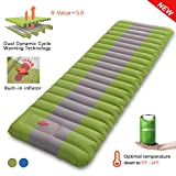 Overmont Sleeping Pad Inflatable Extra Thickness Camping Tent Mattress Pad...