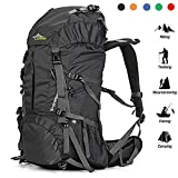 Loowoko Hiking Backpack 50L Travel Daypack Waterproof with Rain Cover for...