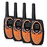 FLOUREON 4 Pack Kids Walkie Talkies 22 Channel Two Way Radios Long Range 3000M...