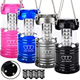 Gold Armour 4 Pack LED Lantern Camping Lanterns for Hiking, Emergency,...