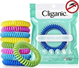 Cliganic 10 Pack Mosquito Repellent Bracelets, 100% Natural | Bug & Insect...