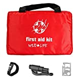 4-in-1 Car First Aid Kit with Emergency Vehicle Tool plus BONUS Paracord Whistle...