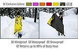 Swiss Safe Emergency Mylar Thermal Blankets (4-Pack) + Bonus Signature Gold Foil...