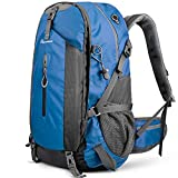 OutdoorMaster Hiking Backpack 45L - w/Waterproof Cover - Blue