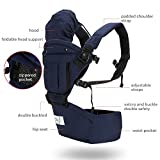 BABY STEPS Baby Carrier Hip Seat Ergonomic 6-in-1, Soft Carrier hipseat for All...