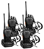 Arcshell Rechargeable Long Range Two-Way Radios with Earpiece 4 Pack UHF...