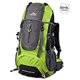 Vbiger Hiking Backpack Water Resistant Daypack 65+5L for Camping, Trekking and...