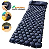 AirExpect Camping Sleeping Pad with Built-in Pump Upgraded Inflatable Camping...