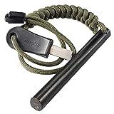 bayite 4 Inch Survival Ferrocerium Drilled Flint Fire Starter Ferro Rod Kit with...