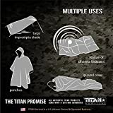 Titan Two-Sided Emergency Mylar Survival Blankets, 5-Pack (Olive-Drab)