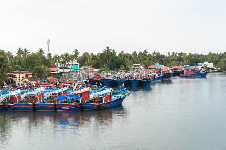 Fishing boat harbor