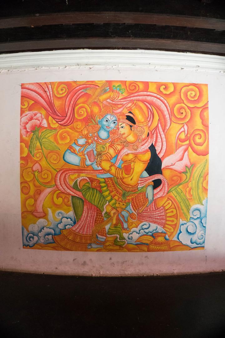 varikkassery mana mural painting