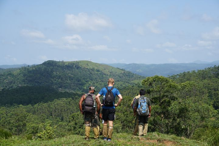 Periyar tiger reserve border hiking using leech socks