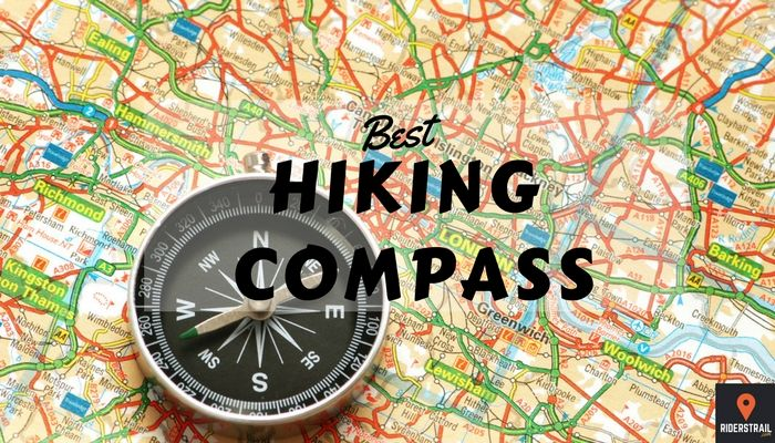 HIking compass and map
