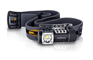 Fenix HL50 365 Lumen light weight LED Headlamp with AA Battery extension tube