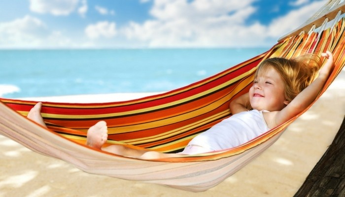child in a hammock