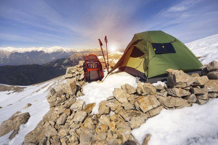 four season winter camping tent