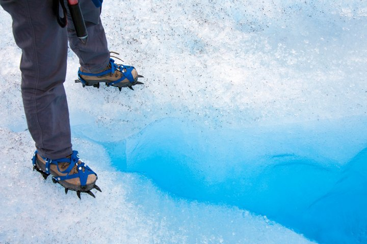 crampons for increased traction