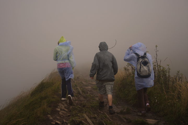 hiking in rain can cause wet foot and lead to trench foot