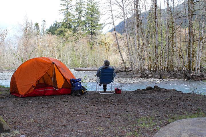 water source near campsite