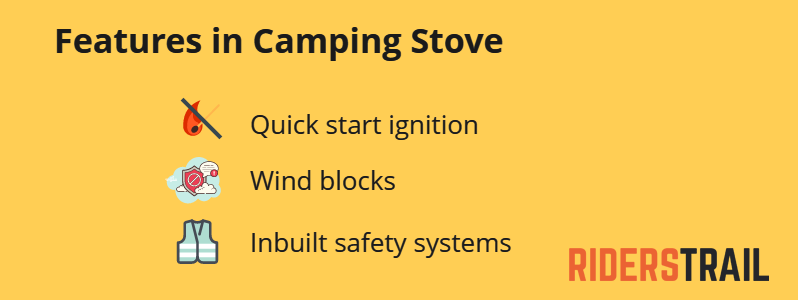 Features to look for in a ca,ping stove
